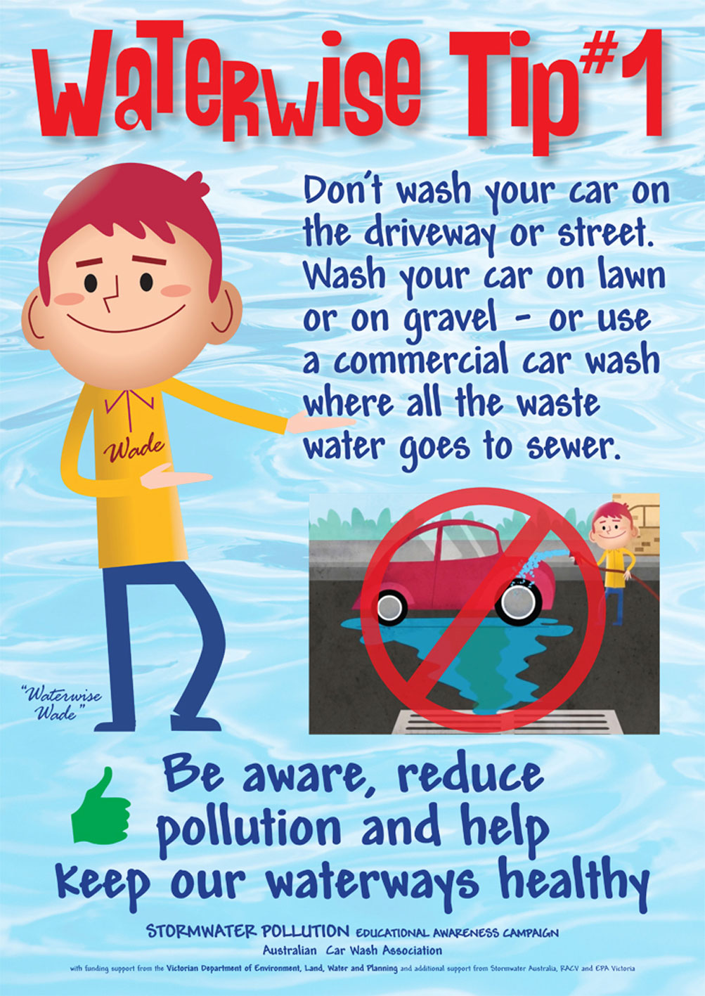 Waterwise tip promotional poster.
